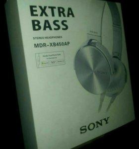 Наушники гарнитура Сони Sony mdr-xb450ap