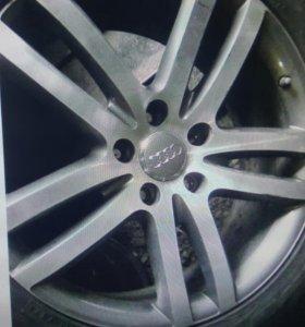 Диски литые б/у оригин. R20 5x130 Audi Q7 4шт 2-1ш