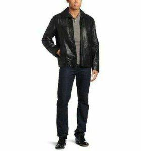 Оригинальная кожаная куртка Tommy Hilfiger size XL