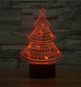 3d светильник Елка