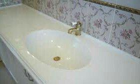 Столешницы для ванной из жидкого гранита