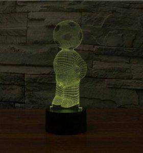 3d светильник Человеко-мяч