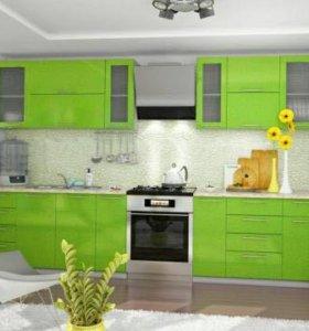Кухня зелёная модуль