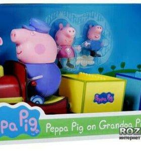 Паравозик peppa pig, новый