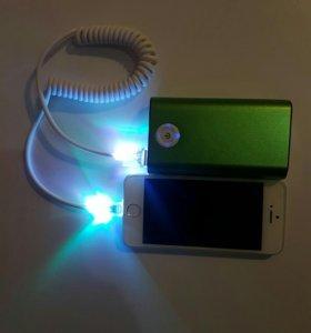 Провод для iPhone 5 светящий