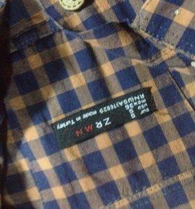 Рубашка в клетку (коричневая)