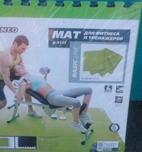Новый мат коврик для фитнеса и тренажеров Torneo
