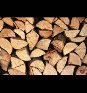 Дрова берёзовые колотые 4 куба