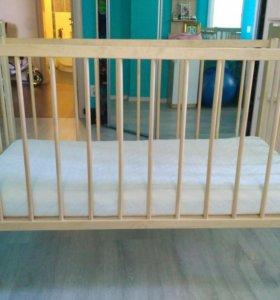 Продам детскую кровать+матрас