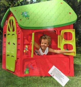 Домик игровой детский красного цвета