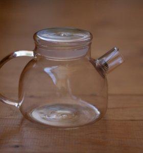Стеклянный чайник из жаропрочного стекла 1000мл