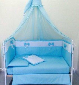Бортики и балдахин на кроватку