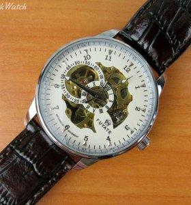 Механические часы Fuyate с автоподзаводом, белые
