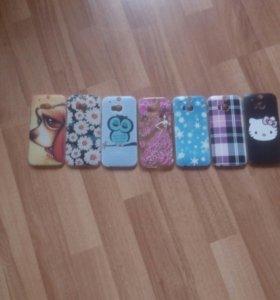Чехлы на HTC One m8 (7 штук)