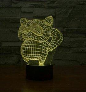3d светильник Енот