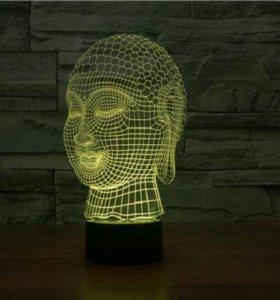 3d светильник Девочка