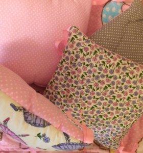 Подушки-бортики в кроватку