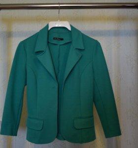 Зеленый пиджак 42 размер