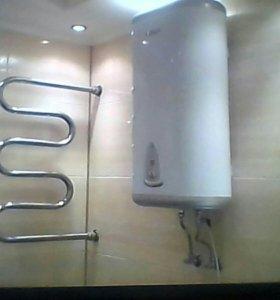 Установка водонагревателей.