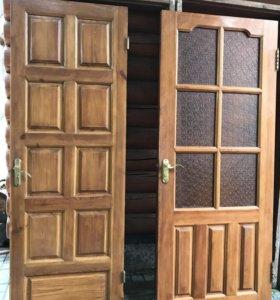 Двери застекленные 200х80, глухие 200х70
