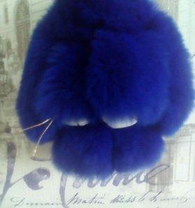 Зайка(брелок) синий