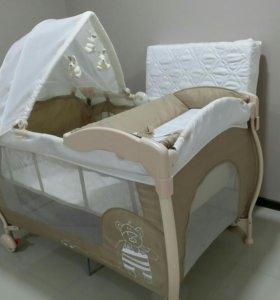 Детская кровать манеж Happy Baby