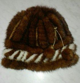 Норковая вязаная шапка - торг