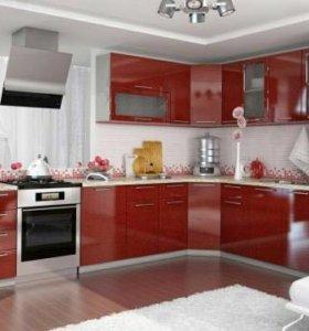 Модуль кухня олива гранат МДФ