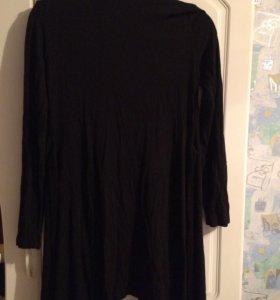 Чёрный длинный кардиган