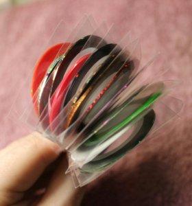 Липкие ленты для дизайна ногтей