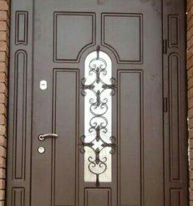 Входная дверь арочная
