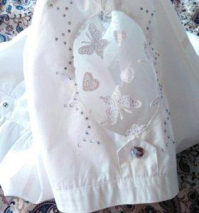 Блуза рубашка со стразами 48 р-р
