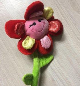 Цветок игрушка с вазой для декора комнаты