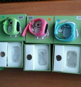 Детские часы Q50 с gps + подарок Power Bank.