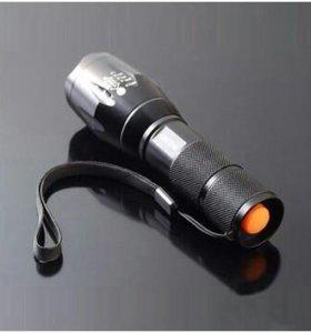 Тактический водонепроницаемый фонарь