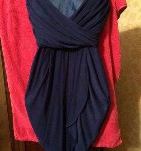 Очаровательное синее платье
