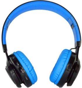 Наушники-гарнитура Kiba Bluetooth Led AB-005 синие