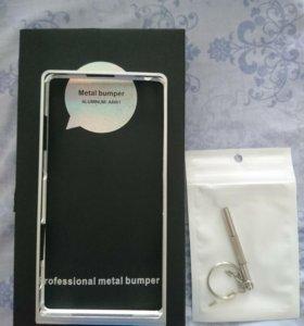 Бампер алюминий для Sony xperia z1