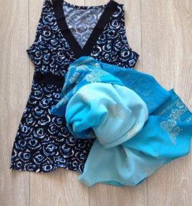 Блуза+шарф