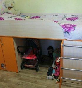 Детская кровать-чердак 90*190(+матрас Орматек)