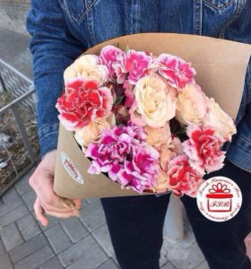 Букет кулек цветы