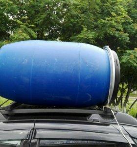 Бочка пластиковая 200 л с крышкой