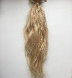 Волосы натуральные на капсулах