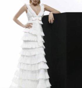 Свадебное платье, фата, туфли, горжетка