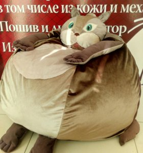 Бескаркасное кресло-кот