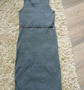 Платье-лапша со шнуровкой новое
