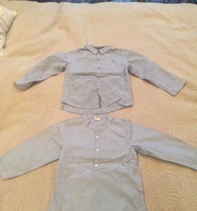 Рубашки 2 шт. Идеальное. сост. возраст 1-3 года.