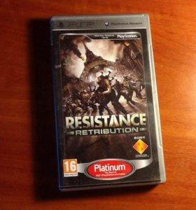 PSP игра RESISTANCE RETRIBUTION