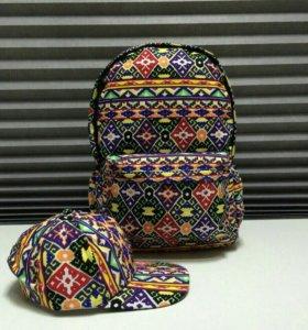 Рюкзак + кепка НОВОЕ