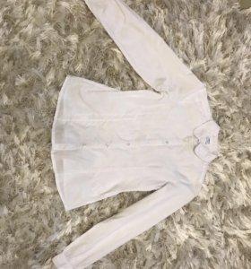 Белые рубашки на девочку 140-146